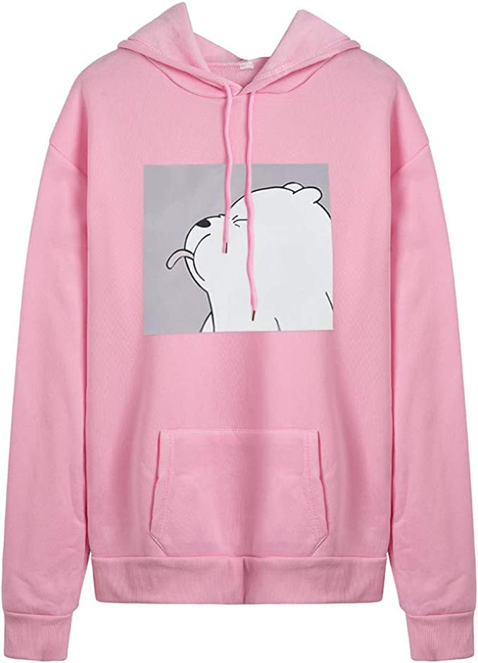aihihe Pullover Hoodies for Women Teen Girls Graphic Print Hooded Sweatshirts Long Sleeve Tops Shirts Blouses Jumpers