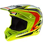 One Industries Gamma Raven Helmet (Chartreuse/Black, X-Large)