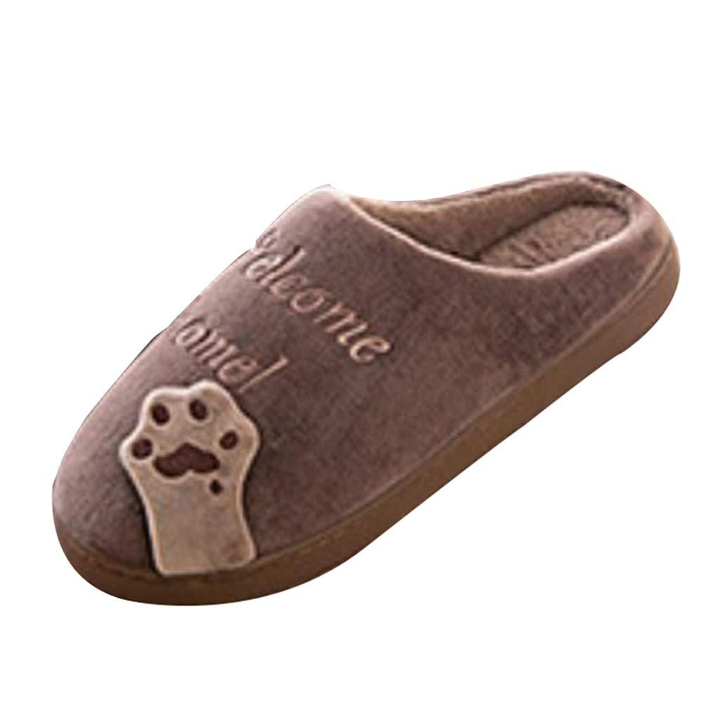 GladiolusA Enfant Chaussures Chaussons Chaud Mignon Chat Pantoufles Antid/érapant Souple Maison Slippers