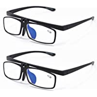 Qi Song Lightweight Anti Blue Ray Flip-up Reading Glasses Makeup Readers +1.0+1.5+2.0+2.5+3.0+3.5