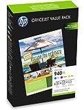 HP CG898AE - Pack de cartuchos de tinta y papel (940XL Officejet, 100 hojas, A4)
