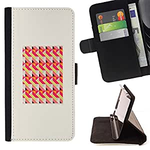 For HTC One M9 Case , Patrón de marco melocotón rosa- la tarjeta de Crédito Slots PU Funda de cuero Monedero caso cubierta de piel