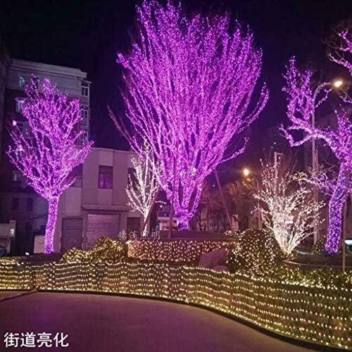 KELITE 100 LEDs 39ft / 12m Schnur-Licht-Solarbetriebene Weihnachten Dekorative Fee Beleuchtung for Outdoor/Indoor Patio-Garten-Yard-Partei-Hochzeit (Multicolor) (Color : Purple)