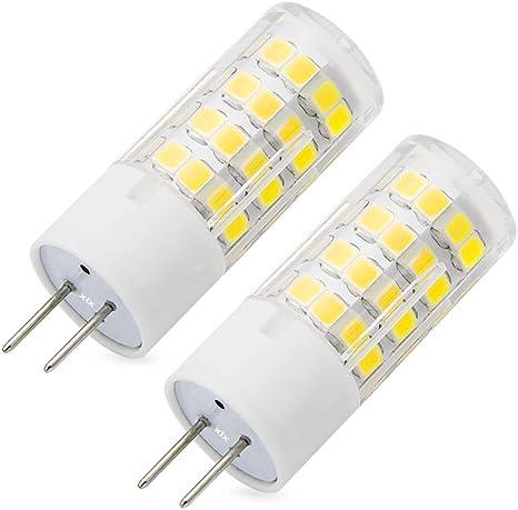 Pack of 5 50W Halogen Bulbs Equivalent G6.35 Base,White Light Dimmable 6000K GY6.35 LED Light Bulb 6W AC110V~120V