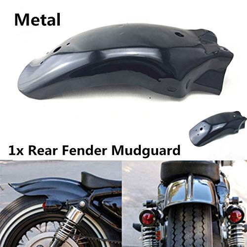 Lisyline Black Metal Motorcycle Rear Fender Mudguard Guard For Harley Honda KTM Suzuki Kawasai Yamaha -