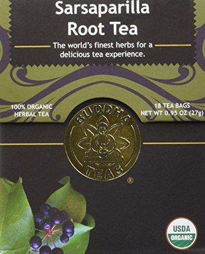 (Organic Sarsaparilla Tea - Kosher, Caffeine-Free, GMO-Free - 18 Bleach-Free Tea Bags)