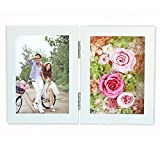 L&J Immortal flowers,Eternal flowers preserved flowers rose gift box retro 7 inch photo frame for valentine's day wedding mother's day birthday gift-B