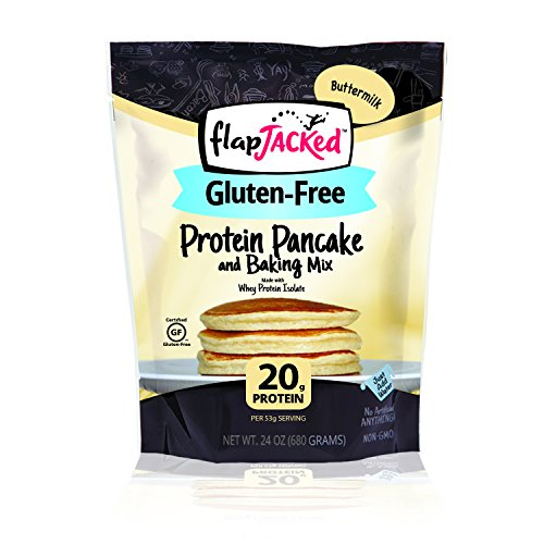 FlapJacked Gluten-Free Protein Pancake and Baking Mix, Buttermilk, 24 Ounce
