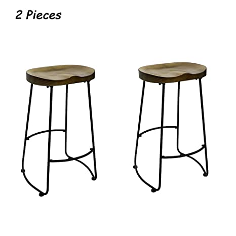 Marvelous Amazon Com Yaolanq Set Of 2 Bar Stools Industrial Style Gmtry Best Dining Table And Chair Ideas Images Gmtryco