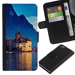 UNIQCASE - Apple Iphone 6 4.7 - Castle In Switzerland - Cuero PU Delgado caso cubierta Shell Armor Funda Case Cover