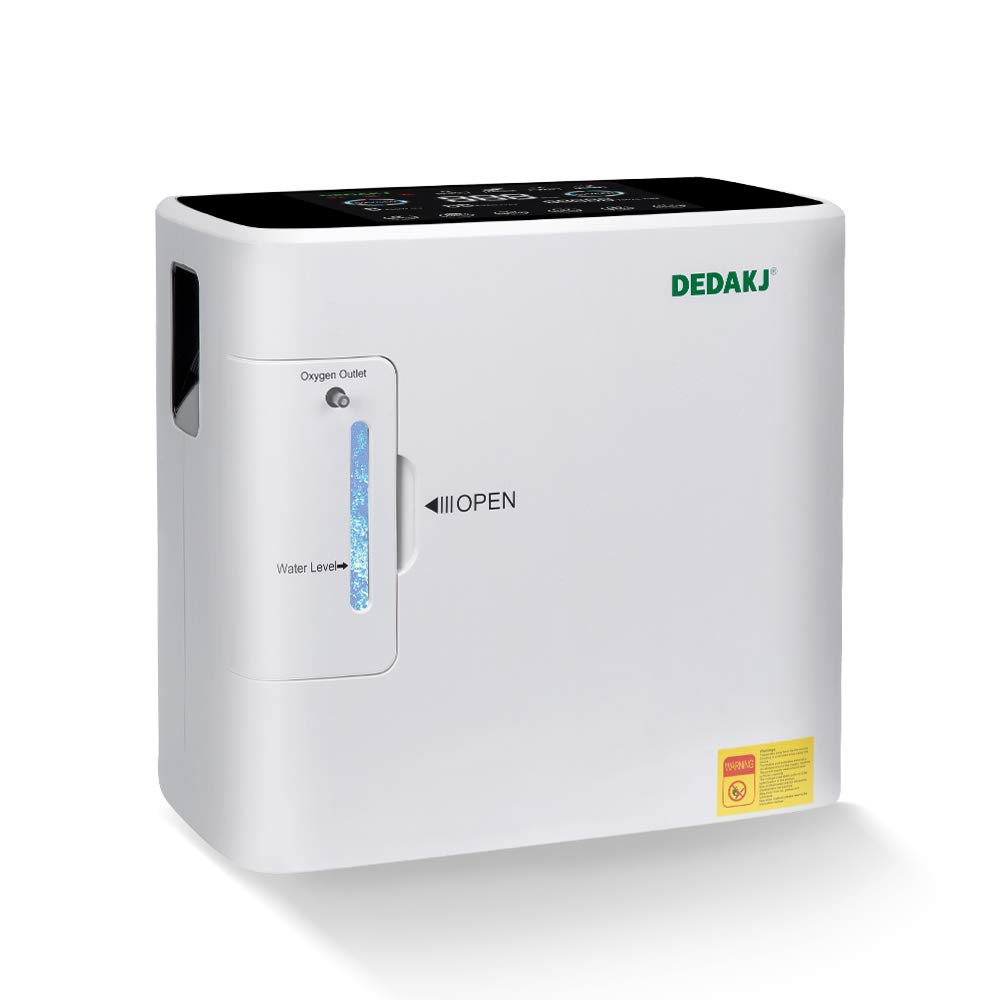 DEDAKJ Oxygen Concentrator 1-6L/min Adjustable Portable Oxygen Machine for Home and Travel Use, AC 110V Humidifiers
