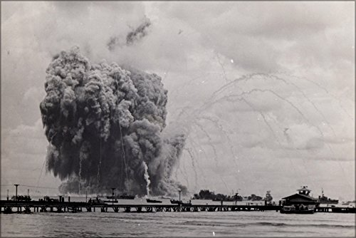 (42x63 Poster; The Explosion Of The Uss Mount Hood (Ae-11) In Seeadler Harbor, Manus, Admiralty Islands On November 10,)