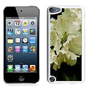 Fashionable Designed Cover Case For iPod 5 Touch With White Rhododendron Flower Mobile Wallpaper (2) Phone Case