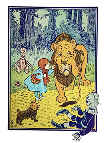 Dorothy Toto Tin Woodman Scarecrow Lion Wizard of OZ Counted Cross Stitch Pattern