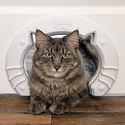 Cat Door Built In Interior Pet Door for Small, Medium, & Large...