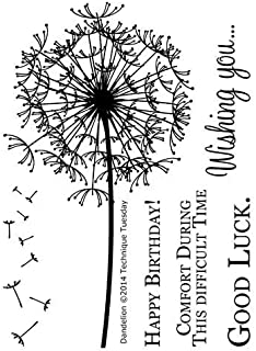 Clear Technique Tuesday Stamps Dandelion 3 by 4-Inch