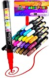 28 Paint Pens - Paint Marker Pens, Water Based Colors for Kids & Adults, Sun and Water Resistant Fine Point, Paint on Rock, Wood, Glass, Ceramic, Metal, Clothes, Skin & Almost All Surfaces Model 2019