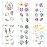 1000Art Nature Stickers Set - Flower Plant Stickers Set for Cards,DIY Arts and Crafts,Planner,Journals,Scrapbooks,Calendars, Album