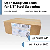 """IDL Packaging Open (Snap-On) Seals for 5/8"""" Strap"""