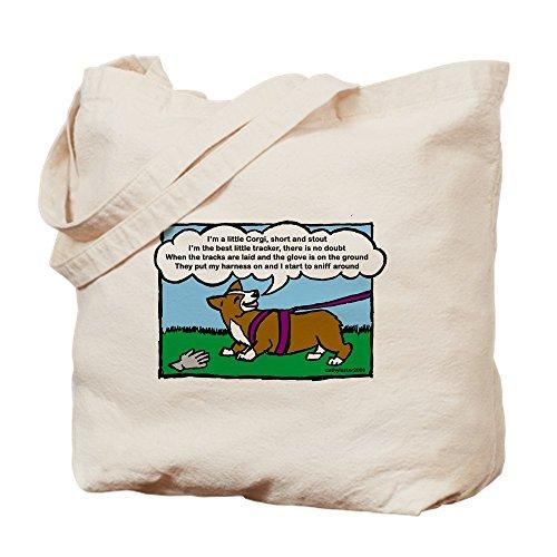 CafePress–seguimiento Corgi Carcasa–Gamuza de bolsa de lona bolsa, bolsa de la compra Small caqui