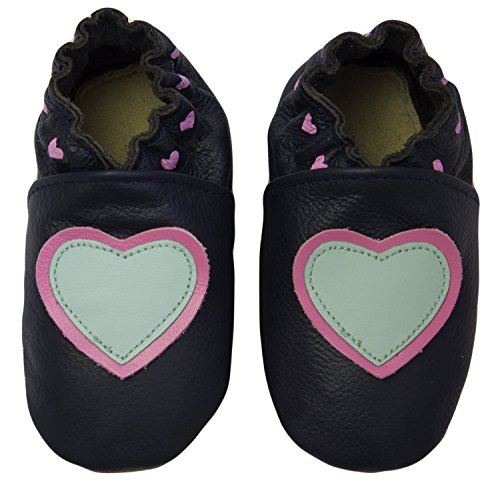 Rose & Chocolat Chaussures Bébé Little Hearts Blue