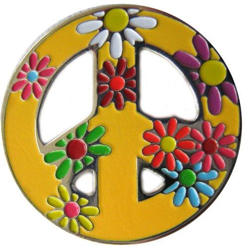Be The Ball 4U (Peace Love Golf MagneticGolfBallMarkerHatClip & Golf Ball Marker | Achievement Golf Circle Hat Clip (Goldenrod)