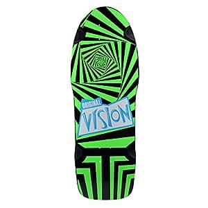 Vision Original Vision Reissue Skateboard Deck, Black/Green, 10 x 30-Inch