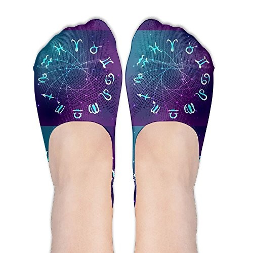 Constellation Astrological Sign Original Womens Non Slip Athletic Compression Ankle Boat Short Socks For Yoga Train Hiking Cycling Running Sports - Fast Email Up Sign