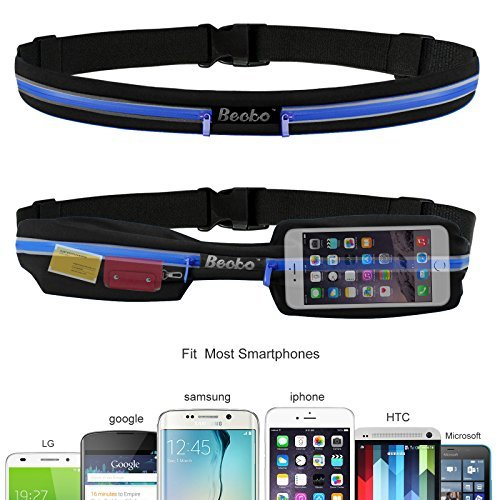 Becko Lightweight & Durable Waterproof Bag / Running Belts / Runners Belt / Race Belt Fitness Workout Belt for Both Men and Women Fit for iPhone, HTC, Samsung, Motorola, BlackBerry and Most Smartphones Waist Pack Belt / Runners Belt Waist Pouch / Sport Running Waist Bag / Runner's Waist Pack Protects items during Workouts, Cycling, Hiking, Walking, Running, Sports, Leisure and All Outdoor Activities