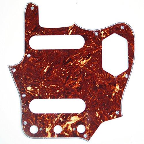 (Replacment Pickguard For Jaguar style Guitar ,4Ply Red Tortoise /Japan Reissued)