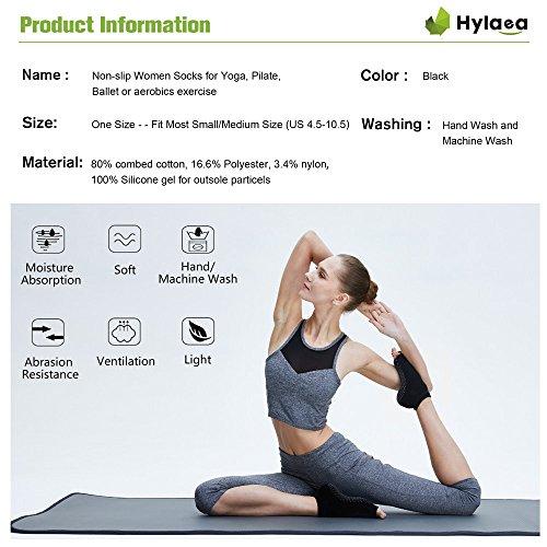 Hylaea-Non-Slip-Yoga-Socks-for-Women-Toeless-Grip-Anti-Skid-Pilates-Ballet-Barre-Bikram-Socks-Cotton