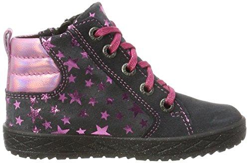 Superfit Mädchen Mercury Hohe Sneaker Grau (Charcoal KOMBI)