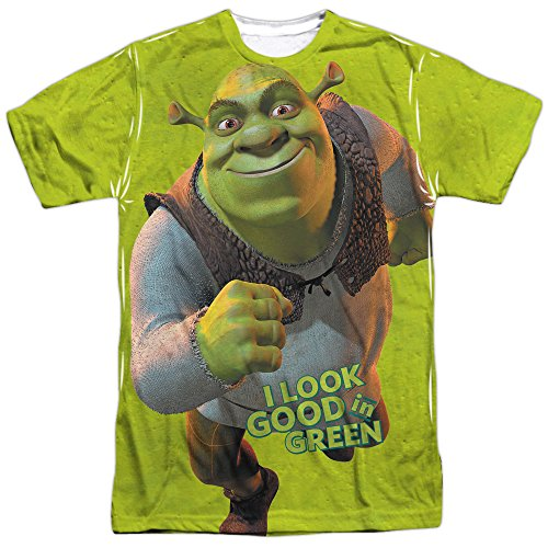 Shrek Trio Mens Sublimation Shirt White 2X -