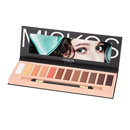 MISKOS 12 Colors Nude Tude Eyeshadow Palette Shimmer Matte E