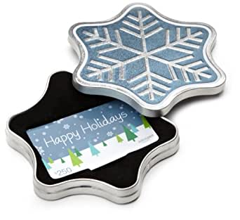 Amazon.com $250 Gift Card in a Snowflake Tin (Happy Holidays Card Design)