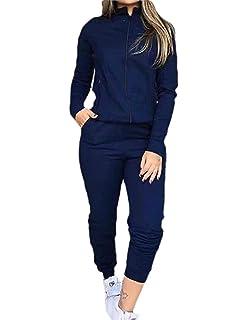 FreelyWomen 2 Piece Zip-Up Stripe Workout Sports Sweatsuit