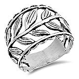 Sterling Silver Greek Leaf Design Vine Ring Size 7