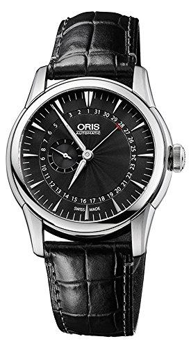 Oris Artelier Pointer Date Black Dial Black Leather Mens Watch 01 744 7665 4054-07 5 22 71FC