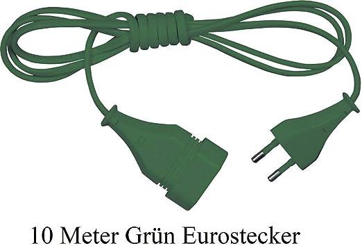 5m Verlängerungskabel Stromkabel Strom Verlängerung Kabel Euro Stecker 5 Meter