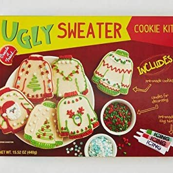 Amazoncom Ugly Sweater Cookie Kit 1 Kit Grocery Gourmet Food