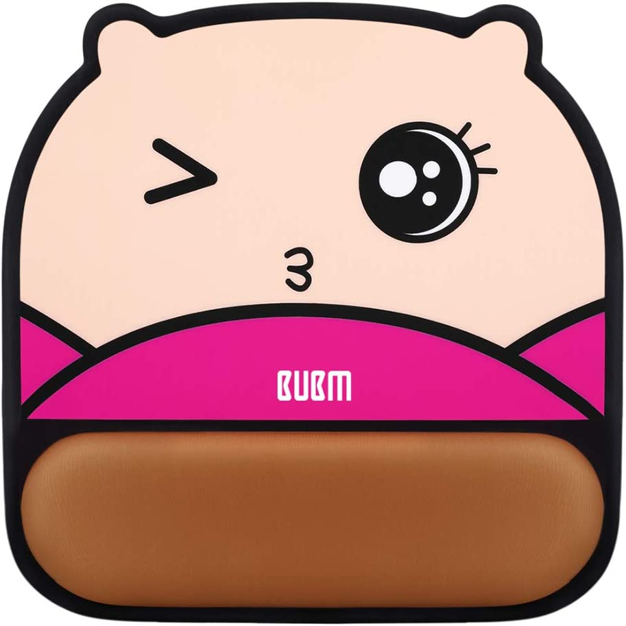 Cute Wrist Rest Pad Mat Cartoon Hand Pillow with Non-Slip Rubber Base Pain Relief and Comfortable for Office Home Gaming Panda BUBM Ergonomic Mouse Pad with Wrist Support Gel Laptop Computer