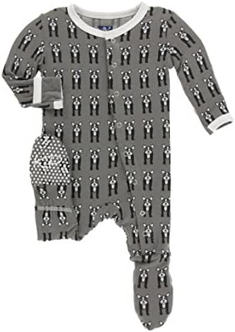 KicKee Pants Baby Boys' Essentials Print Footie