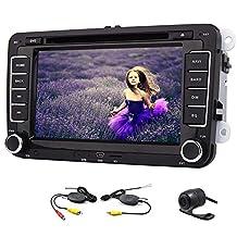 8 Inch Car GPS Navigation Car DVD Player In Dash Head Unit Radio Stereo For Volkswagen VW Jetta Golf Skoda Passat Seat +Canbus+8gb GPS Map Card+ Wireless Reversing Camera