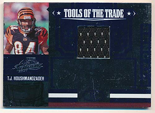 BIGBOYD SPORTS CARDS T.J. HOUSHMANDZADEH 2007 Absolute Tools of The Trade Bengals RELIC Jersey SP -