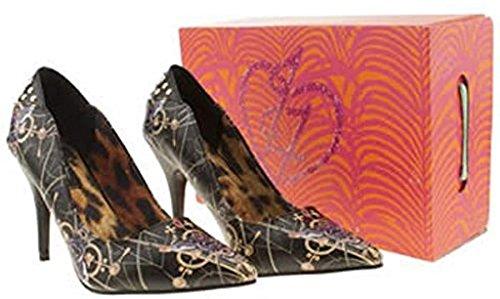 Iron Fist Mayan Temple Black Gold Multi New Womens Hi Heels Court Shoes sZw8IuTJ