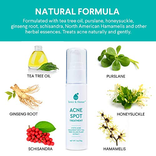 Acne Spot Treatment for Acne Prone Skin - Treats Cystic Acne, Advanced Acne Removal, Fast-Acting, Pimple Repair with Tea… 3