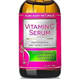 Vitamin C Serum Professional Topical Facial Skin Care Helps Repair Sun Damage, Reduce Age Spots, Dark Circles, Wrinkles & Fine Lines - 1 oz.