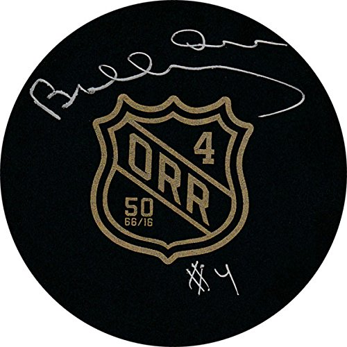 - Bobby Orr Autographed 50th Anniversary Puck