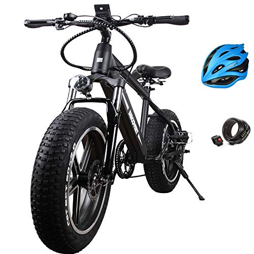 """Santa NAKTO Fat Tire Electric Bicycle (20"""" Discovery)"""
