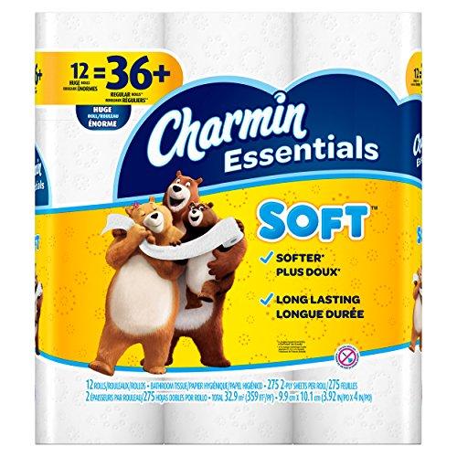 Charmin Essentials Soft Toilet Paper, Bath Tissue, Huge Roll